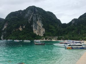 docked for lunch in Phi Phi