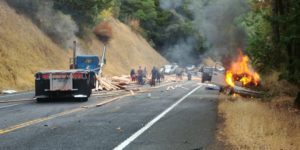 Fatal Crash north of Willits CA