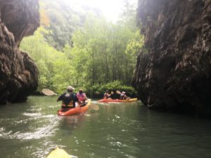 Kayaking in canyon
