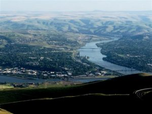 View of Clarkston, WA and Lewiston, ID