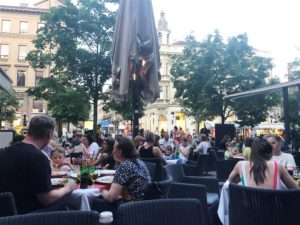 Dinner on the square in Zagreb (Medium)