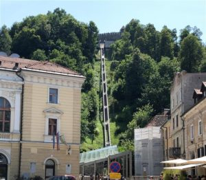 Funicular to Castle in Ljubljana (Medium)