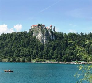 The castle above Lake Bled (Medium)