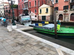 Trash collection in Venice (Medium)