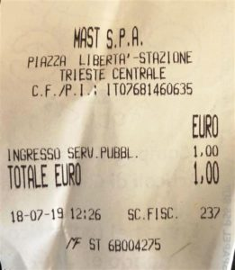 Water Closet receipt (Medium)