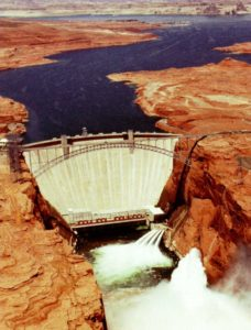 Arial View of Glen Canyon Dam